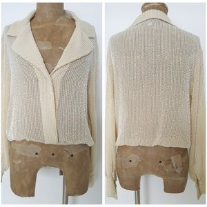 Rory Beca Beaded Top Size Small Ivory Sheer Formal